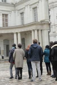 Arrivée au Chateau royal de blois