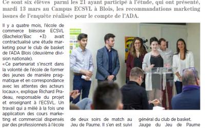 L'ECSVL s'invite dans la presse aux côtés de l'ADA Blois Basket