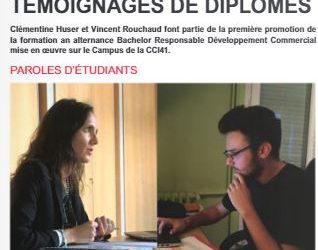 CCI Economie n° 49 – 1ère promotion Bachelor RDC – témoignages