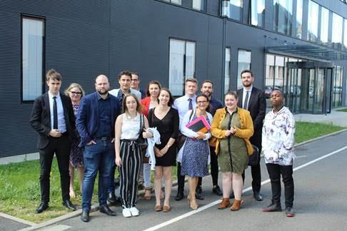 Les étudiants du Campus de la CCI de Blois au Crédit Agricole – Centrale titres